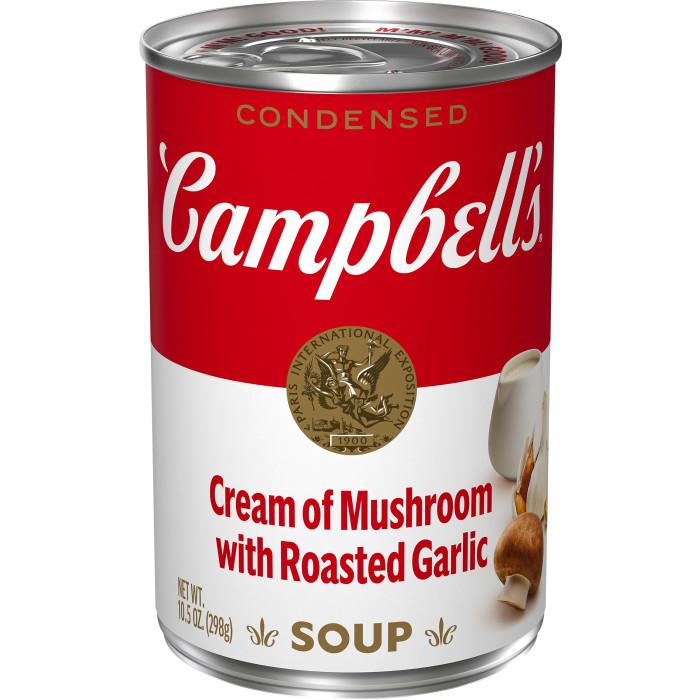 Cream of Mushroom with Roasted Garlic Soup