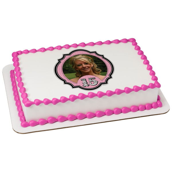 Fashionable 15 PhotoCake® Edible Image® Frame