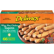 Delimex White Meat Chicken Taquitos 66 count Box