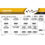 Lamp Parts Assortment (Lamp Nipples & Locknuts)