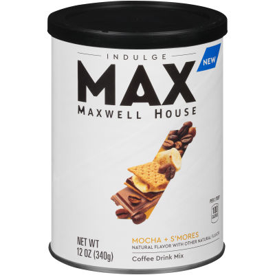 Maxwell House MAX Indulge S'mores Mocha Coffee Drink Mix 12 oz Can