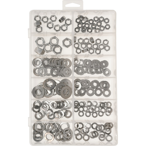 Stainless Steel Nut and Washer Assortment Kit (210-Piece)