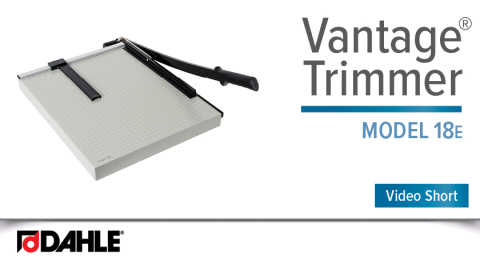 Dahle Vantage® 18e Trimmer Video