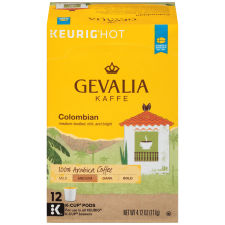 Gevalia Colombian Coffee K-Cup Pods, 12 count
