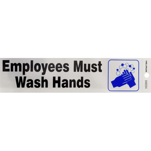 Employees Must Wash Hands Sign 2