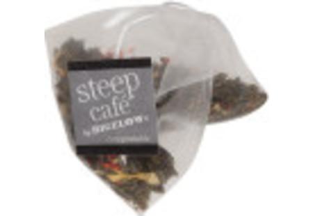 steep cafe by Bigelow organic full leaf tropical green tea pyramid bag