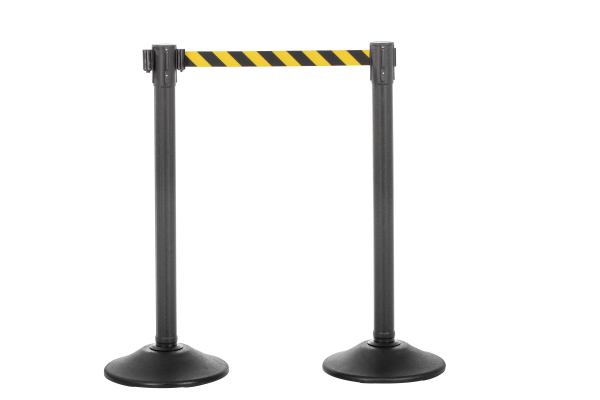 Sentry QS Stanchion - Black with Chevron Belt 1