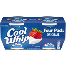Kraft Cool Whip Original Whipped Topping Frozen, 4 – 8 oz Tubs