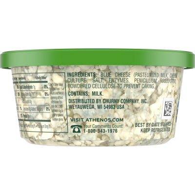 Athenos Crumbled Blue Cheese 4.5 oz Tub
