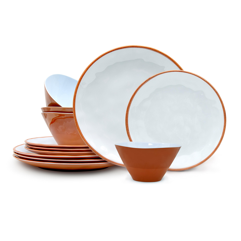 Zak Dinnerware 12-piece Dinnerware Set, Terra Cotta, 12-piece set slideshow image 1