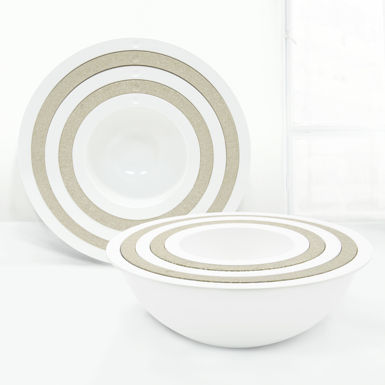 Tilt Mixing Bowl Set, White, 5-piece set slideshow image 3