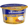 Knudsen Cottage Cheese Doubles Honey Vanilla Topping 4.7 oz Tub
