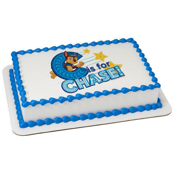 PAW Patrol™ C is for Chase PhotoCake® Edible Image®