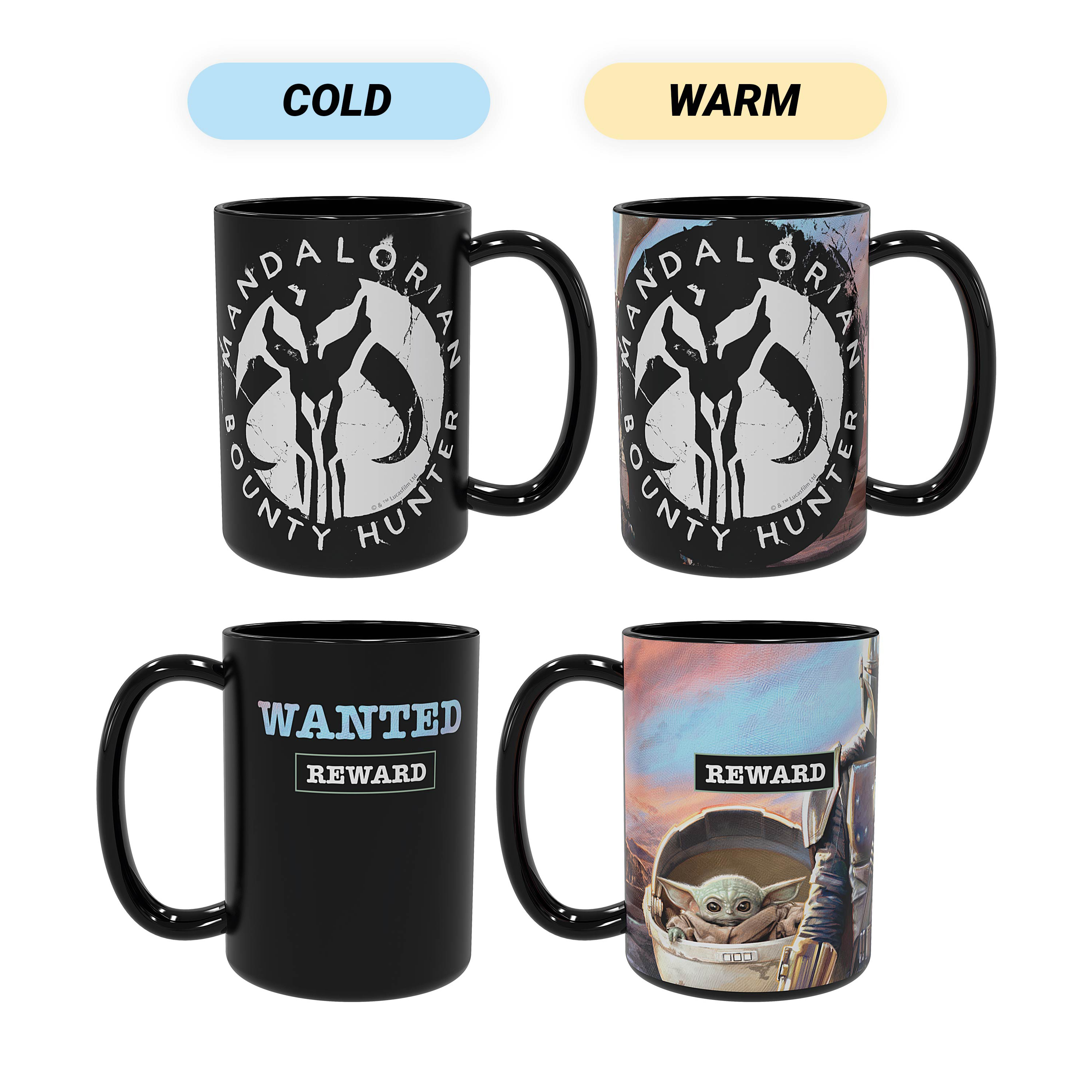 Star Wars: The Mandalorian 15 ounce Ceramic Coffee Mugs, The Mandalorian slideshow image 1