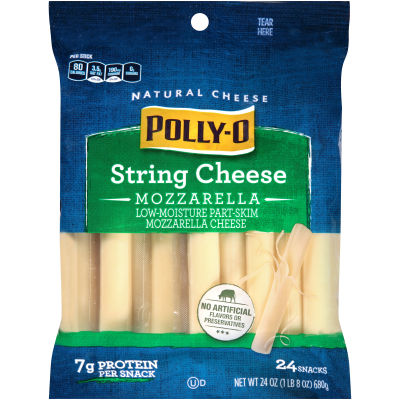 Polly-O Low-Moisture Part-Skim Mozzarella String Cheese 12 counts