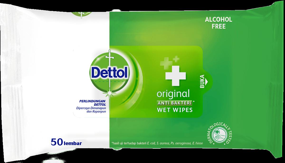 Dettol Anti Bakteri Wet Wipes Original
