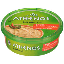 Athenos Spicy Three Pepper Hummus 14 oz Tub