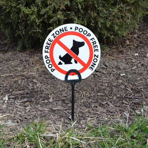 Canine Clean Up Sign (6.5