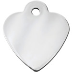 Chrome Small Heart Quick-Tag