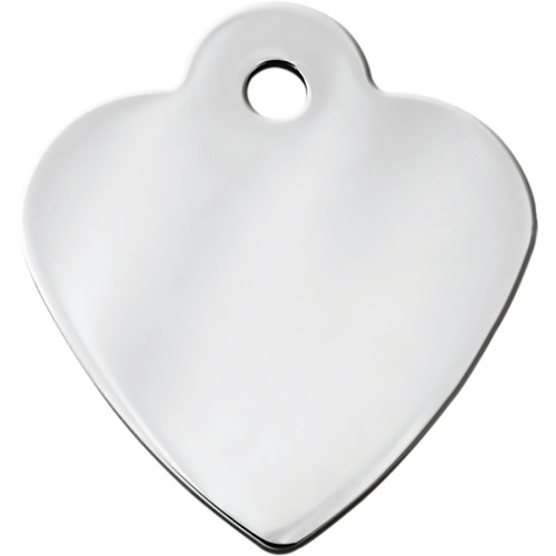 Chrome Small Heart Quick-Tag 5 Pack