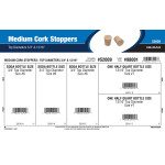"Medium Cork Stoppers Assortment (Top Diameters 3/4"" & 13/16"")"