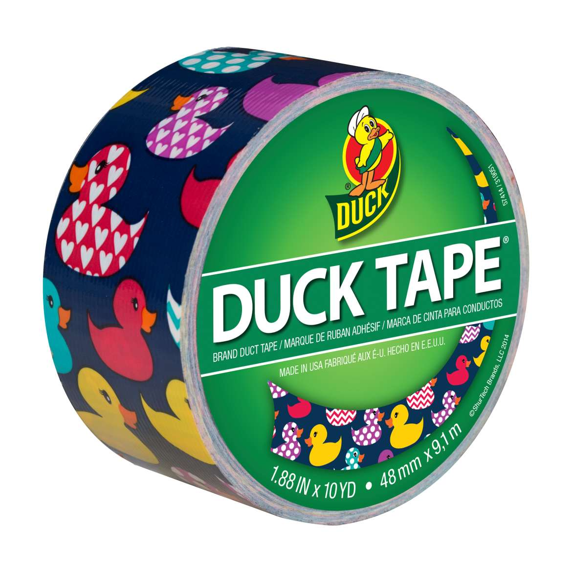 Printed Duck Tape® Brand Duct Tape - Rubber Duck, 1.88 in. x 10 yd. Image