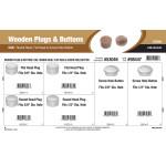 Oak Wooden Plugs & Buttons Assortment (Round Head, Flat Head, & Screw Hole Button)