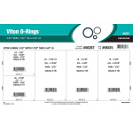 "Viton O-Ring Assortment (7/32"" to 2-5/8"" Inside diameter x 3/32"" Width)"