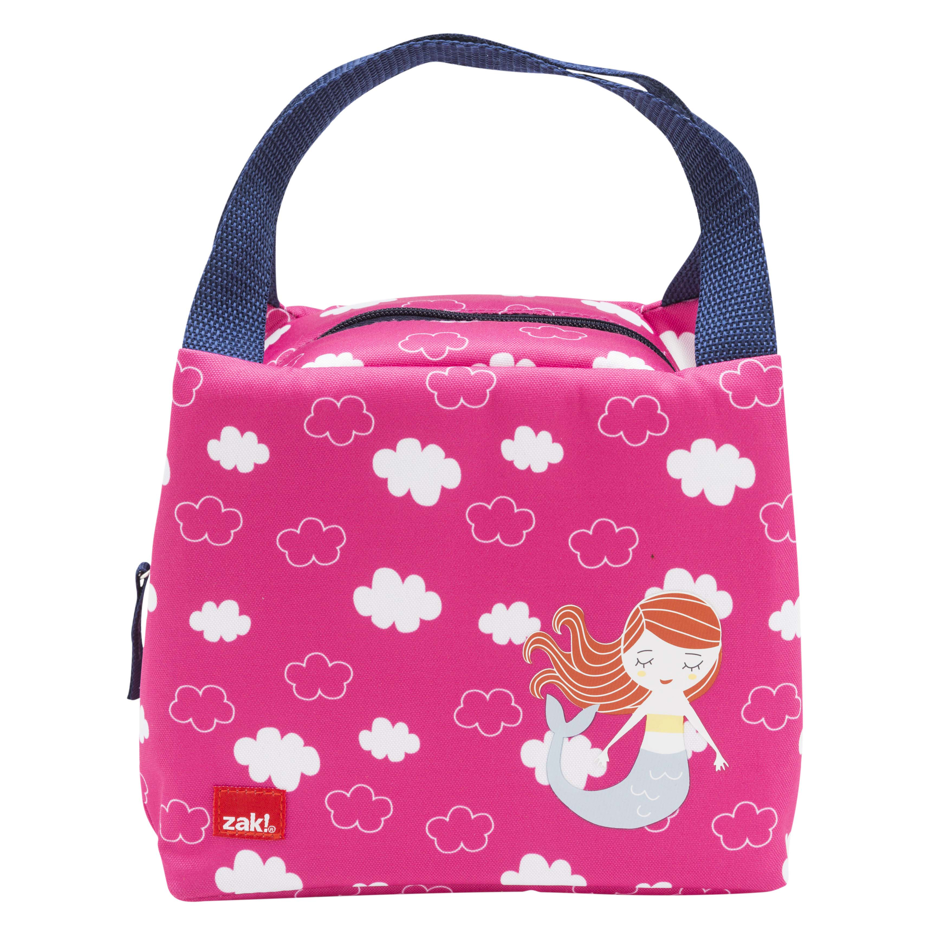 Happy Things Purse Style Insulated Reusable Lunch Bag, Mermaids slideshow image 1