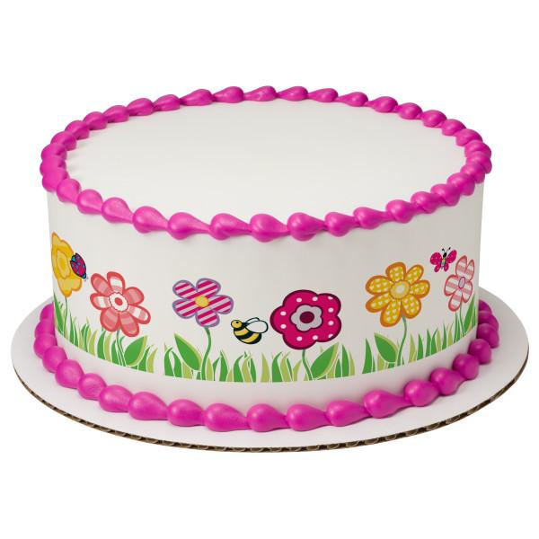 Cutie Pie Garden PhotoCake® Edible Image® Strips