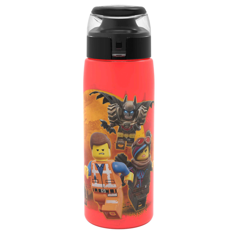 LEGO Movie 2 25 ounce Water Bottle, Batman, Wyldstyle & Emmet, 2-piece set slideshow image 4