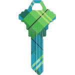 WacKey Plaid Key Blank