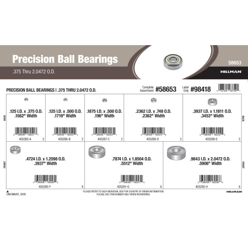 Precision Ball Bearings Assortment (0.375