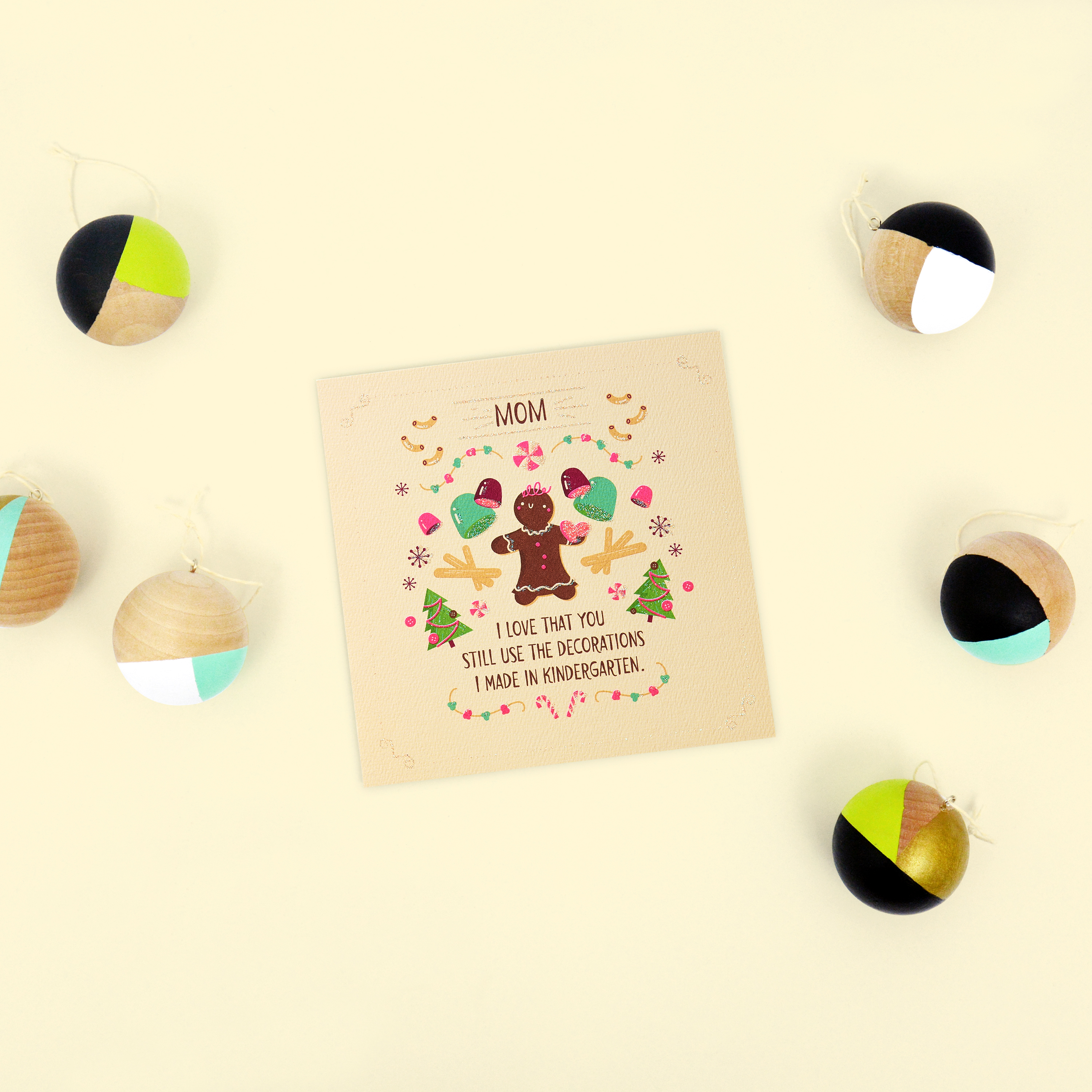 Gingerbread Greeting Card for Mom - Christmas, Happy Holidays image