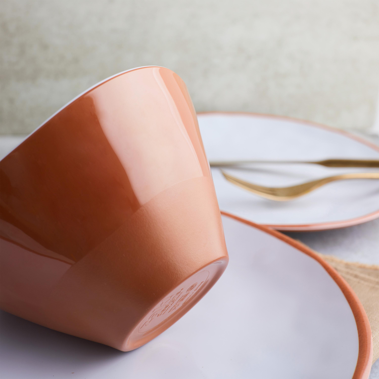 Zak Dinnerware 12-piece Dinnerware Set, Terra Cotta, 12-piece set slideshow image 5