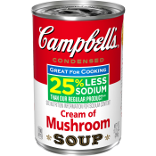 25% Less Sodium Cream of Mushroom Soup