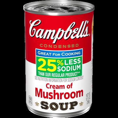 25% Less Sodium Cream of Mushroom Soup