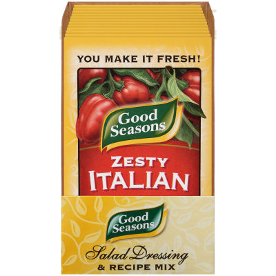 Good Seasons Zesty Italian Dry Salad Dressing and Recipe Mix 0.7oz single packet