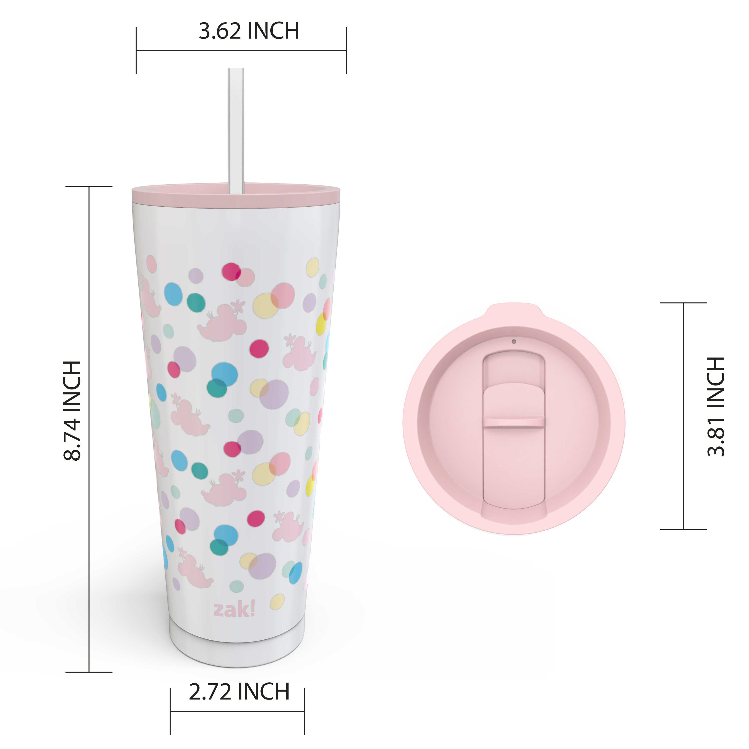 Disney 25 ounce Reusable Water Bottle, Minnie Mouse Polka Dots slideshow image 7