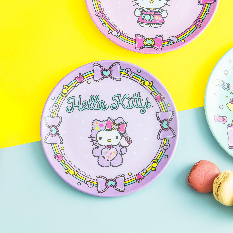 Sanrio 6-inch Appetizer Plate, Hello Kitty, 4-piece set slideshow image 2