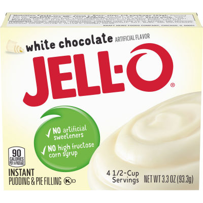 Jell-O Instant White Chocolate Pudding & Pie Filling 3.3 oz Box