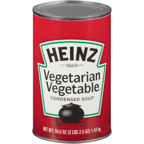 HEINZ Vegetarian Vegetable Soup, 50.5 oz. Can, (Pack of 12)