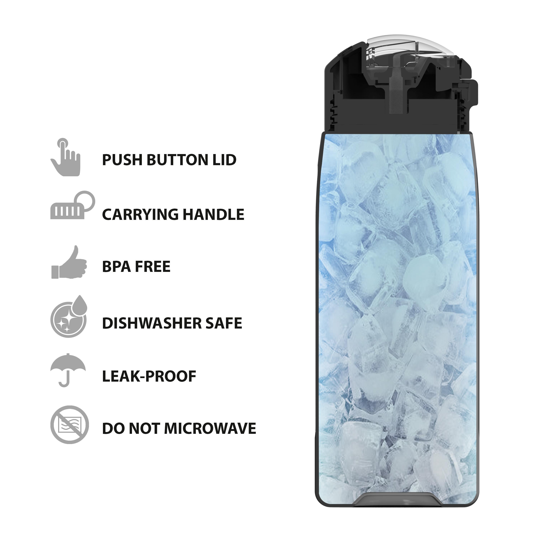 Genesis 32 ounce Water Bottles, Indigo slideshow image 3