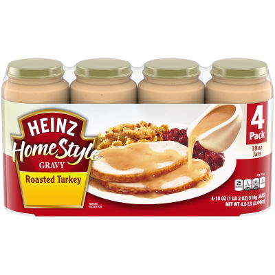 Heinz Home-style Roasted Turkey Gravy 4 - 19 oz Jars