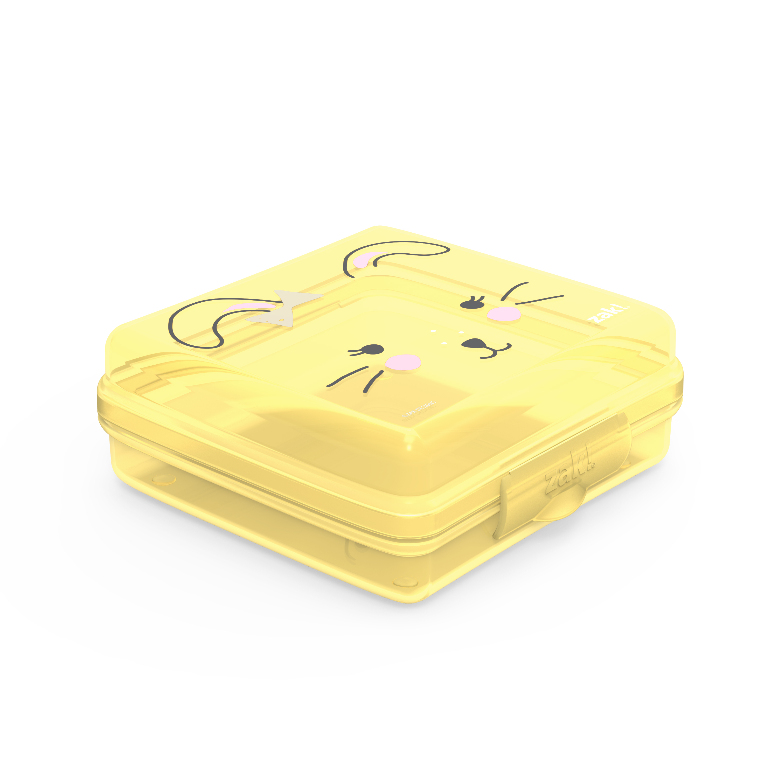 Soft Lines Reusable Hinged Food Container, Bunnies slideshow image 2