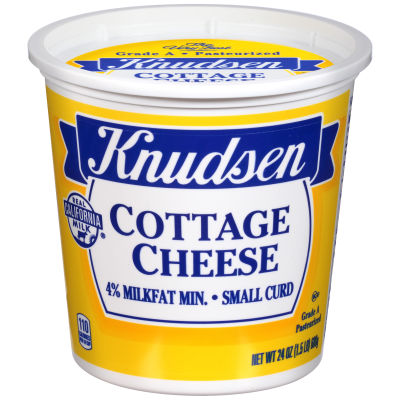 Knudsen Small Curd 4% Milkfat Cottage Cheese 24 oz Tub