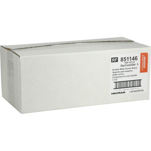 Hardware Essentials Double Wide Corner Brace 1-1/2