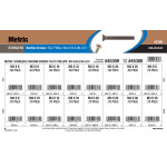 Metric Phillips Flat Stainless Sheet Metal Screws Assortment (M3-0.5 & M4-0.7)