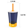 Zak Hydration 16 ounce Mighty Mug Tumbler with Straw, Navy slideshow image 3