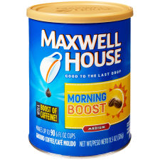 Maxwell House Morning Boost Ground Coffee 11.5 oz Canister